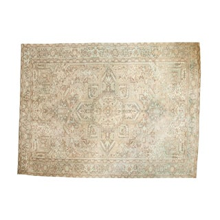 "Vintage Distressed Heriz Carpet - 8'4"" X 11'1"""