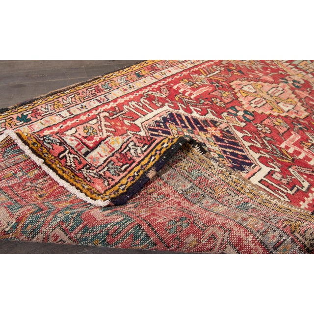 "Islamic Apadana - Vintage Persian Heriz Rug, 2'2"" x 12'11"" For Sale - Image 3 of 5"