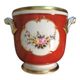 Image of Vintage Vista Alegre Floral Hand Painted Cachepot Urn For Sale