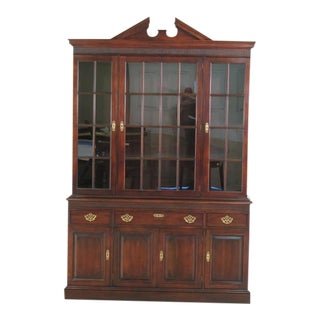 Statton Stratford Cherry Breakfront China Cabinet
