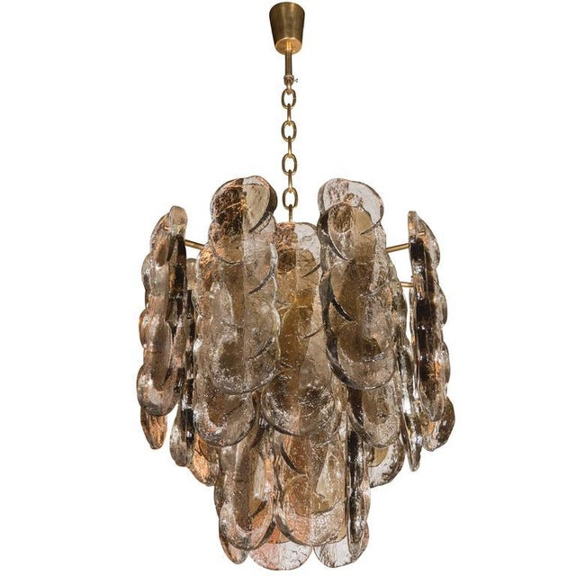 Murano Glass Chandelier Designed by J.T. Kalmar of Austria, Fabricated by Seguso For Sale - Image 9 of 9