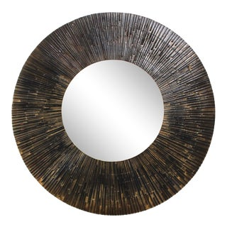 1970s Brutalist Paul Evans Style Wall Mirror For Sale