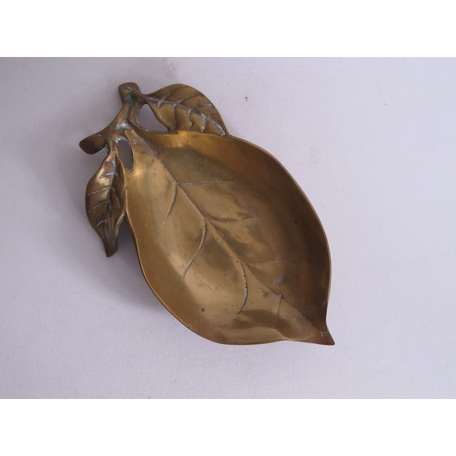 Brass Leaf Dish - Image 6 of 8