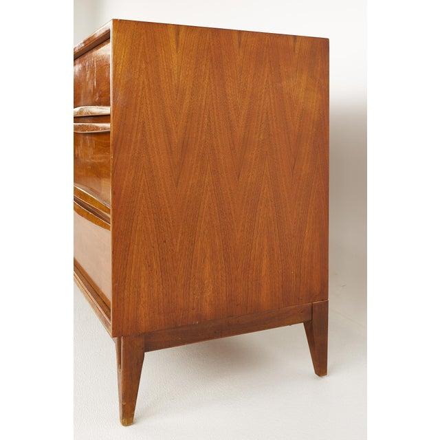 Thomasville Brutalist Mid Century Walnut Lowboy Dresser For Sale In Chicago - Image 6 of 13