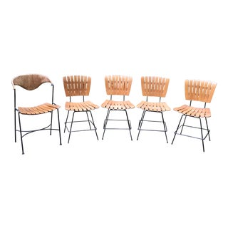 1950s Umanoff Wood Dining Chairs- Set of 5 For Sale