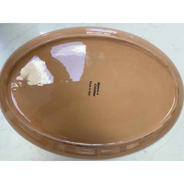 2010s Marco & Cristina Italian Christmas Platter For Sale - Image 5 of 7