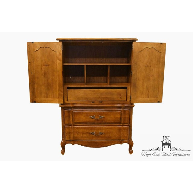 Late 20th Century Late 20th Century Vintage Stanley Furniture French Regency Style Armoire For Sale - Image 5 of 13