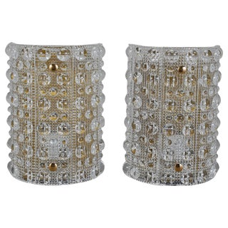 Pair of Large Wall Lights by Orrefors For Sale