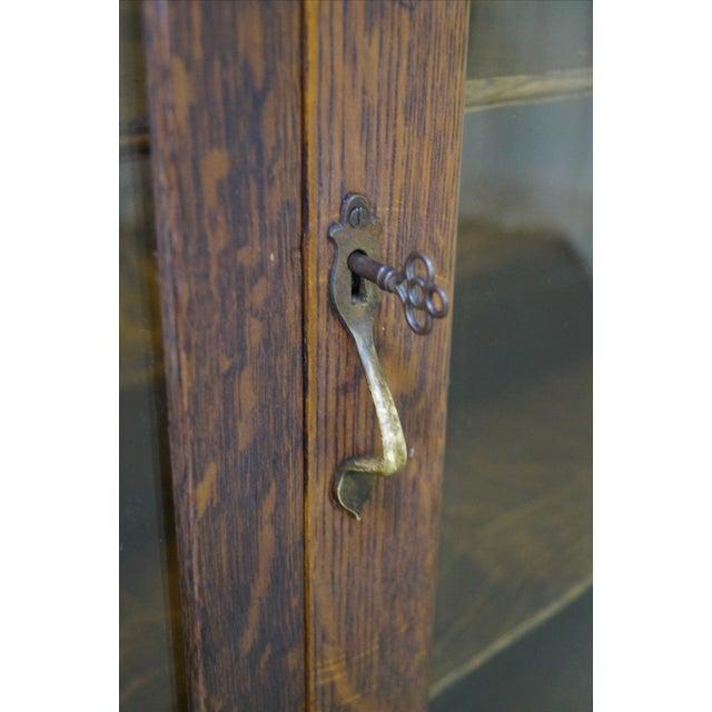 Antique Renaissance Oak Carved Bow Door Cabinet - Image 5 of 10