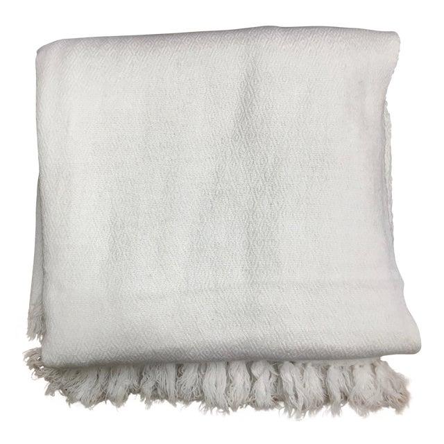 White Tassel Cashmere Blend Blanket - Image 1 of 11
