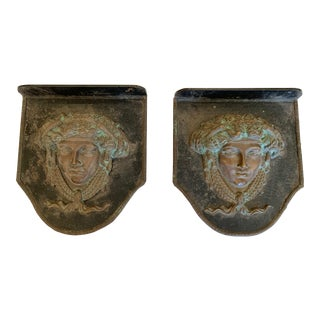 Figural Neoclassical Bronze Plaques - a Pair For Sale