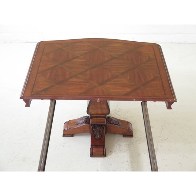 Traditional Ethan Allen Tuscany Collection Walnut Finish Dining Table For Sale - Image 9 of 13