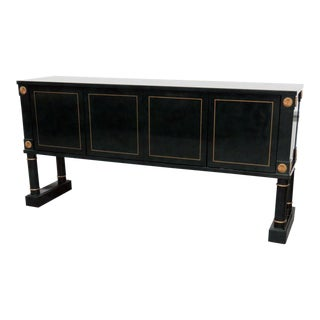 Directoire Style Faux Malachite Sideboard For Sale