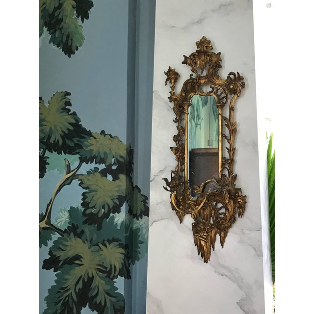 Giltwood Mirrored Wall Sconces For Sale In Boston - Image 6 of 8