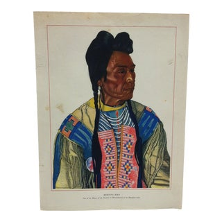 """Original Color Indian Print """"Morning Bird"""" by Winold Reiss For Sale"""
