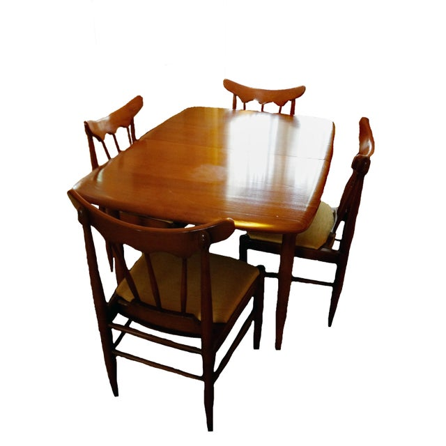Handcrafted American Ash Dining Set - Set of 5 For Sale - Image 4 of 4