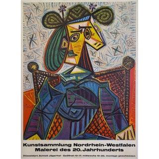 Kunstsammlung Nordrhein-Westfalen, Malerei Des 20. Jahrhunderts Vintage Museum Exhibition Poster by Pablo Picasso For Sale