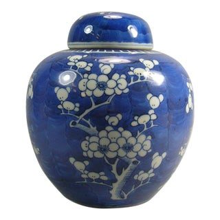 19th Century Chinese Blue and White Ginger Jar For Sale