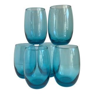 Aqua Glass Tumblers - Set of 6
