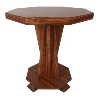 Beautiful Contemporary Modern Custom-Made Octagonal End Table For Sale