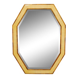 Bone Inlay Octagonal Mirror For Sale