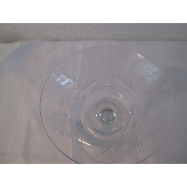 Etched Sunflower Cocktail Glasses - Set of 7 - Image 4 of 4