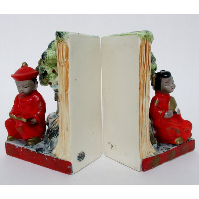Vintage Japanese Bookends, a Pair For Sale In Los Angeles - Image 6 of 8