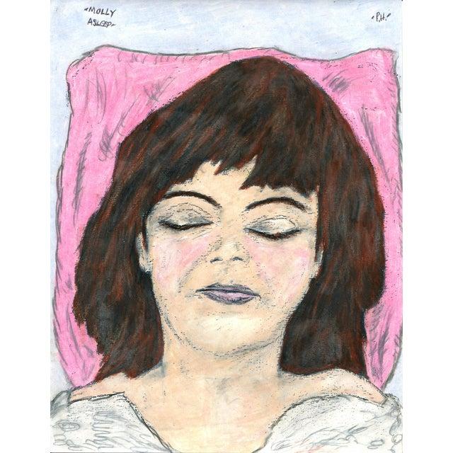 Folk Art Paul Humphrey: Molly Asleep For Sale - Image 3 of 3