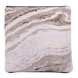 Marble Mirror Cashmere Pillow For Sale
