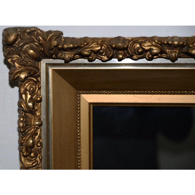 Elaborate 19th Century Carved & Gilded Frame with Mirror C.1890s For Sale In San Francisco - Image 6 of 8