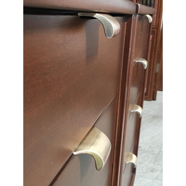 Mid-Century Modern Edward Wormley for Drexel Wood Precedent Nightstands - a Pair For Sale - Image 10 of 11