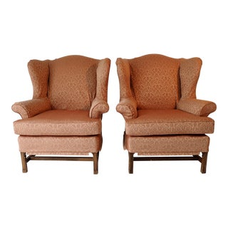 Slipcover Wingback Chairs - A Pair