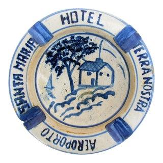 Vintage Portuguese Souvenir Terracotta Ashtray / Catchall For Sale