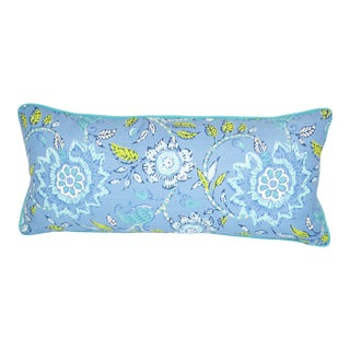 Thibaut Multi-Colored Floral Lumbar Pillow For Sale