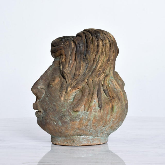 Clay Brutalist Mid-Century Modern Pottery Vase Picasso Attr. For Sale - Image 7 of 10