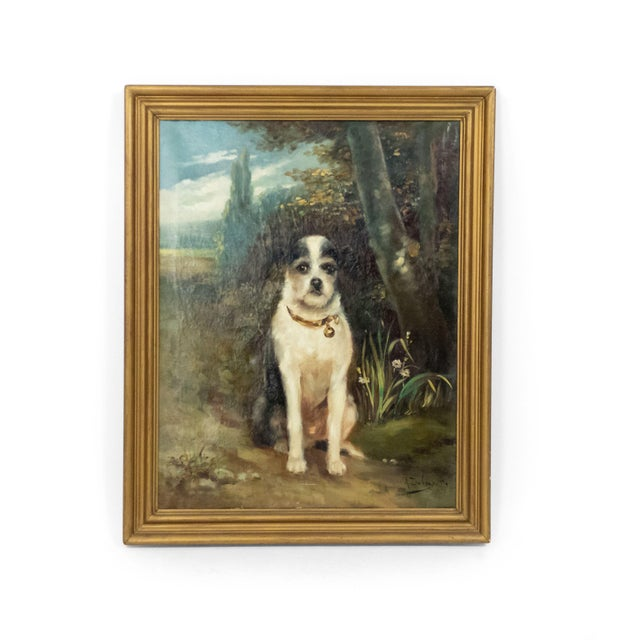 Paint French Victorian Terrier Oil Painting For Sale - Image 7 of 7