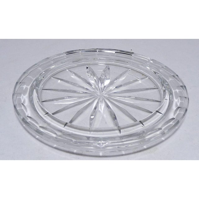 Transparent Cut Crystal Dome Top Butter or Cheese Serving Dish For Sale - Image 8 of 9