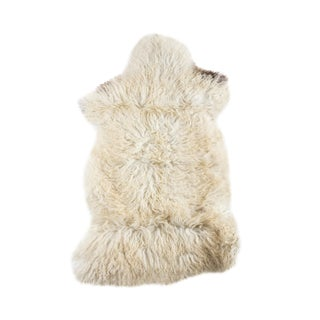 "Contemporary Handmade Long Soft Wool Sheepskin Pelt - 2'3""x3'6"""