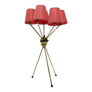 Brass 1950s Sputnik Table Lamp For Sale