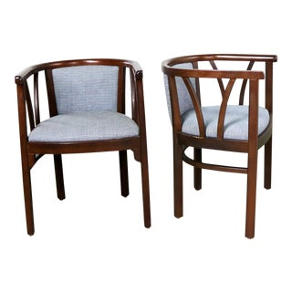 Pair of Art Deco Bauhaus Style Bistro Side Arm Chairs by Loewenstein-Oggo For Sale