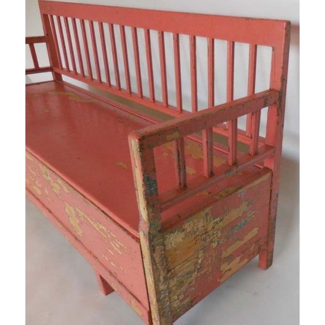 Red 19th Century Painted Swedish Bench/Daybed For Sale - Image 8 of 9