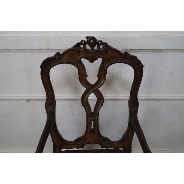 Rococo Style Carved Arm Chair - Image 10 of 11