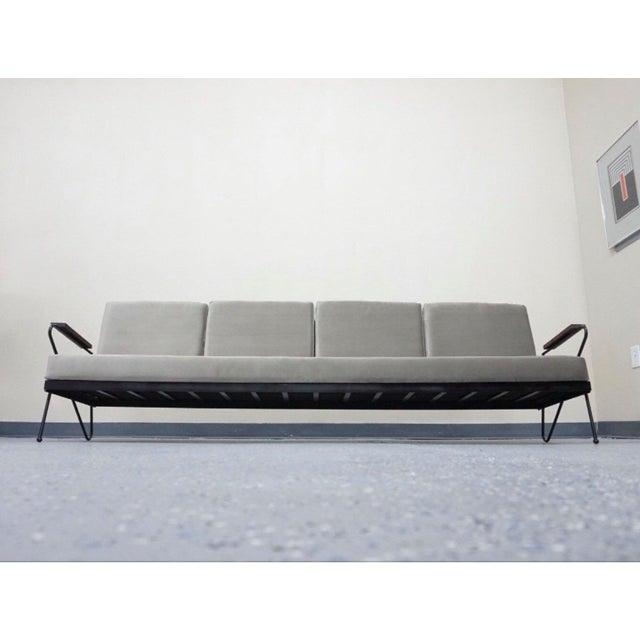 Modern Gray Velvet Sofa, Lounge & Ottoman - Set of 3 - Image 5 of 7