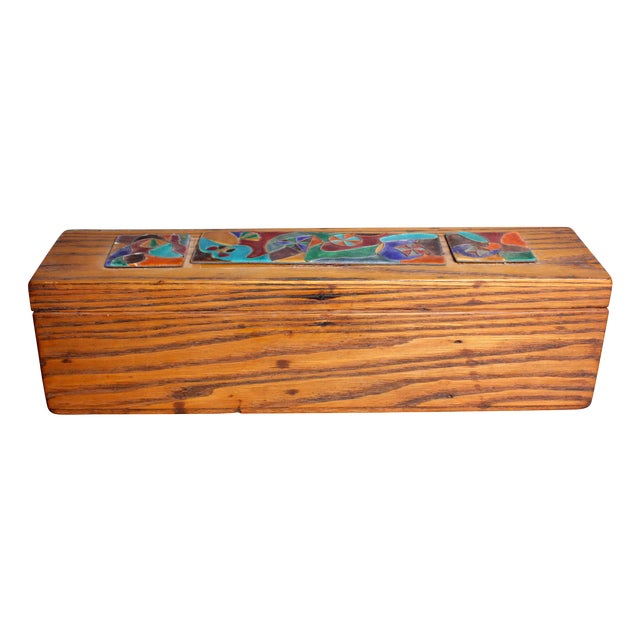 Late 1940s Elizabeth Bensley Wooden Box - Image 1 of 7
