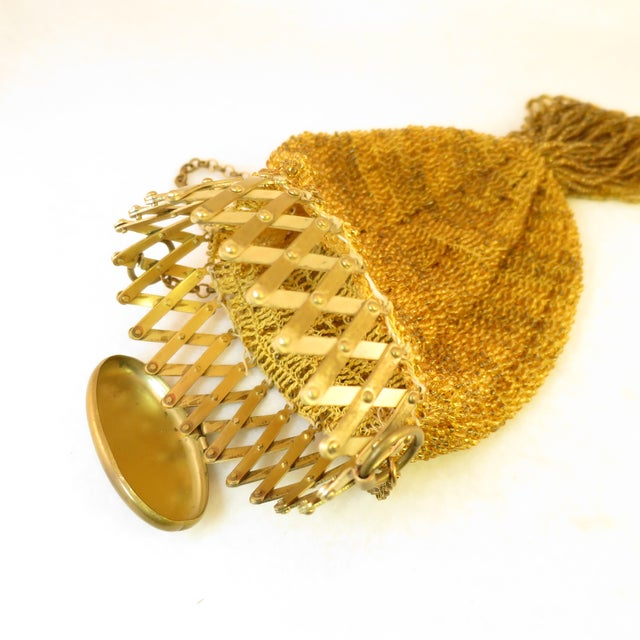 Victorian Hand-Beaded Reticule Evening Bag 1870s For Sale - Image 4 of 11