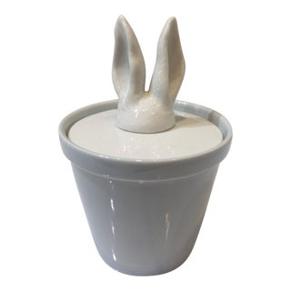 Imm Carousel Ceramic Rabbit Ears Jar For Sale