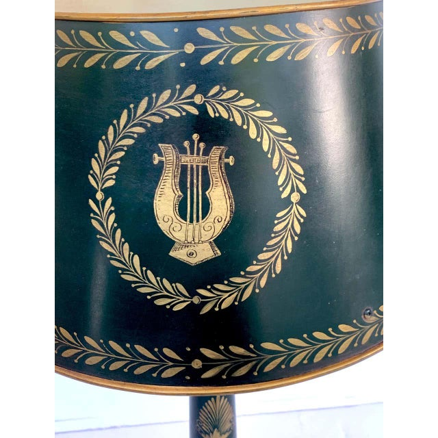 Empire Style Tole Lamps - a Pair For Sale In Atlanta - Image 6 of 11