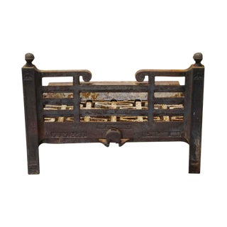 Cast Iron Fireplace Log Holder For Sale