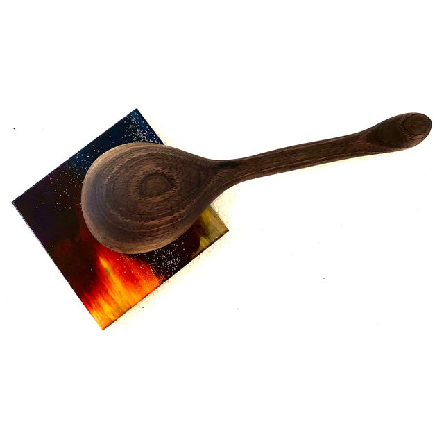 Handmade Walnut Wooden Spoon For Sale In New York - Image 6 of 7
