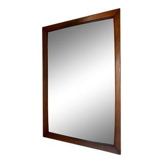 Mid-Century Modern Teak Rectangular Wall Mirror For Sale
